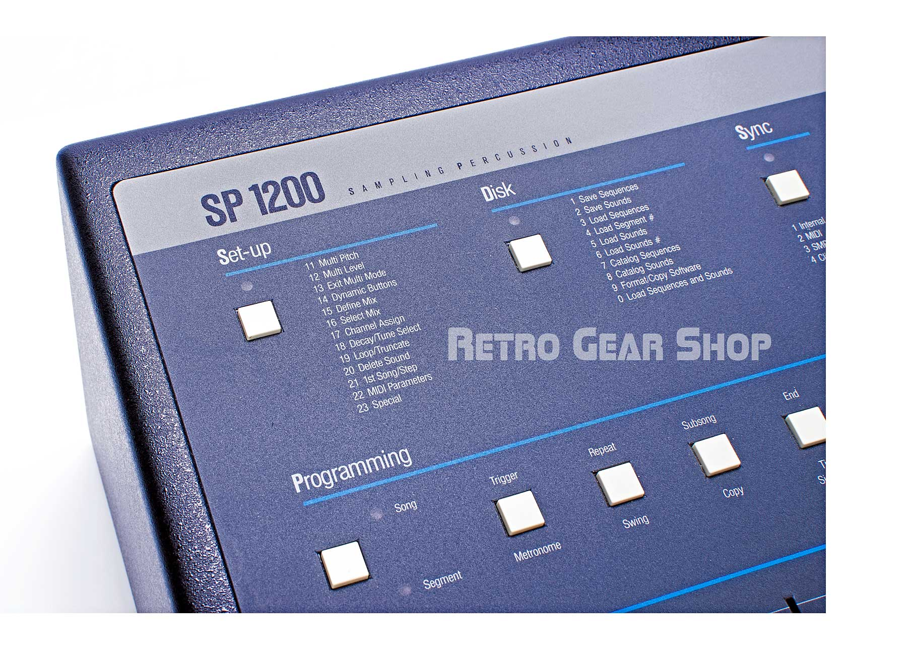 E-Mu SP-1200 Final Edition #112 Faceplate Menu