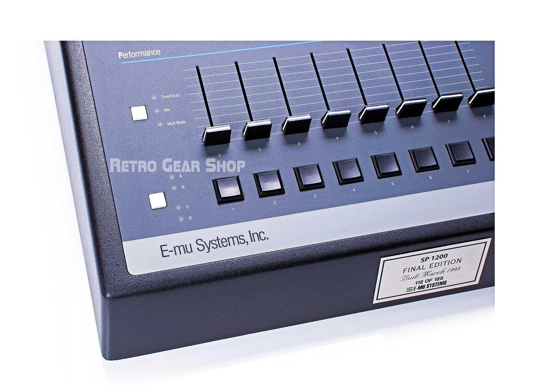 E-Mu SP-1200 Final Edition #112 Faceplate Sliders