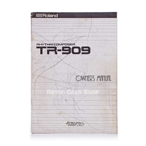 Roland TR-909 Original Owner's Manual