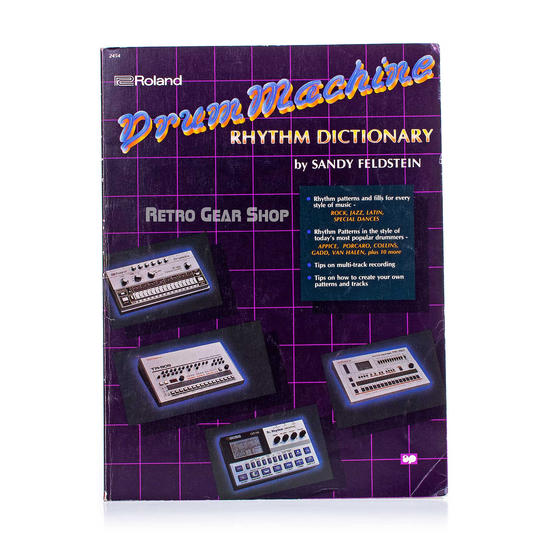 Roland Drum Machine Rhythm Dictionary Book by Sandy Feldstein