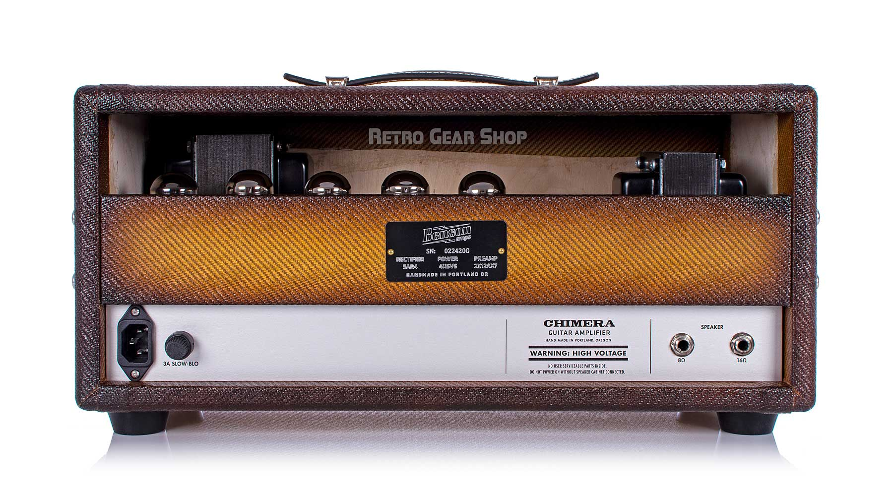 Benson Amps Chimera Bourbon Rear