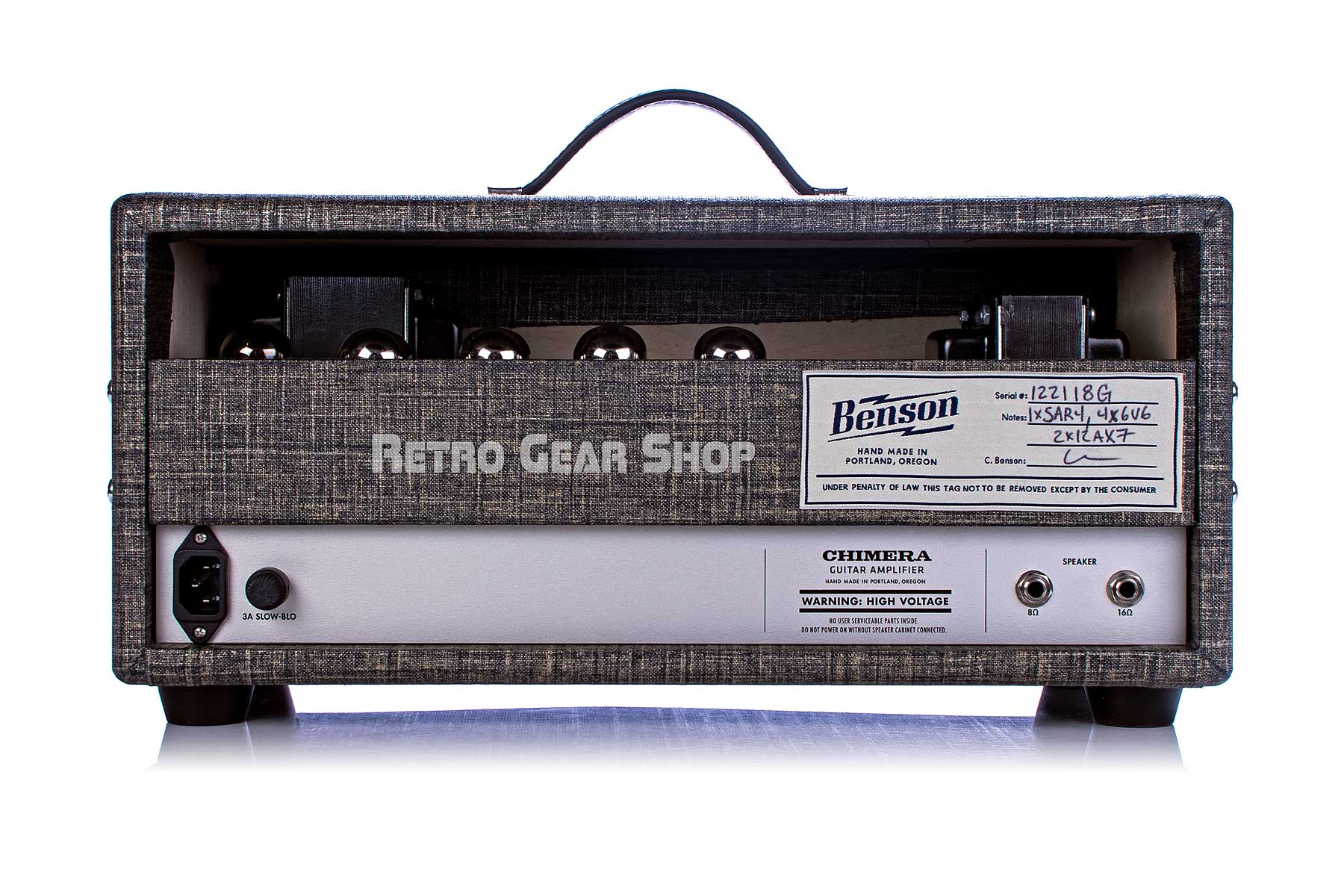 Benson Amps Chimera Head Night Moves Rear