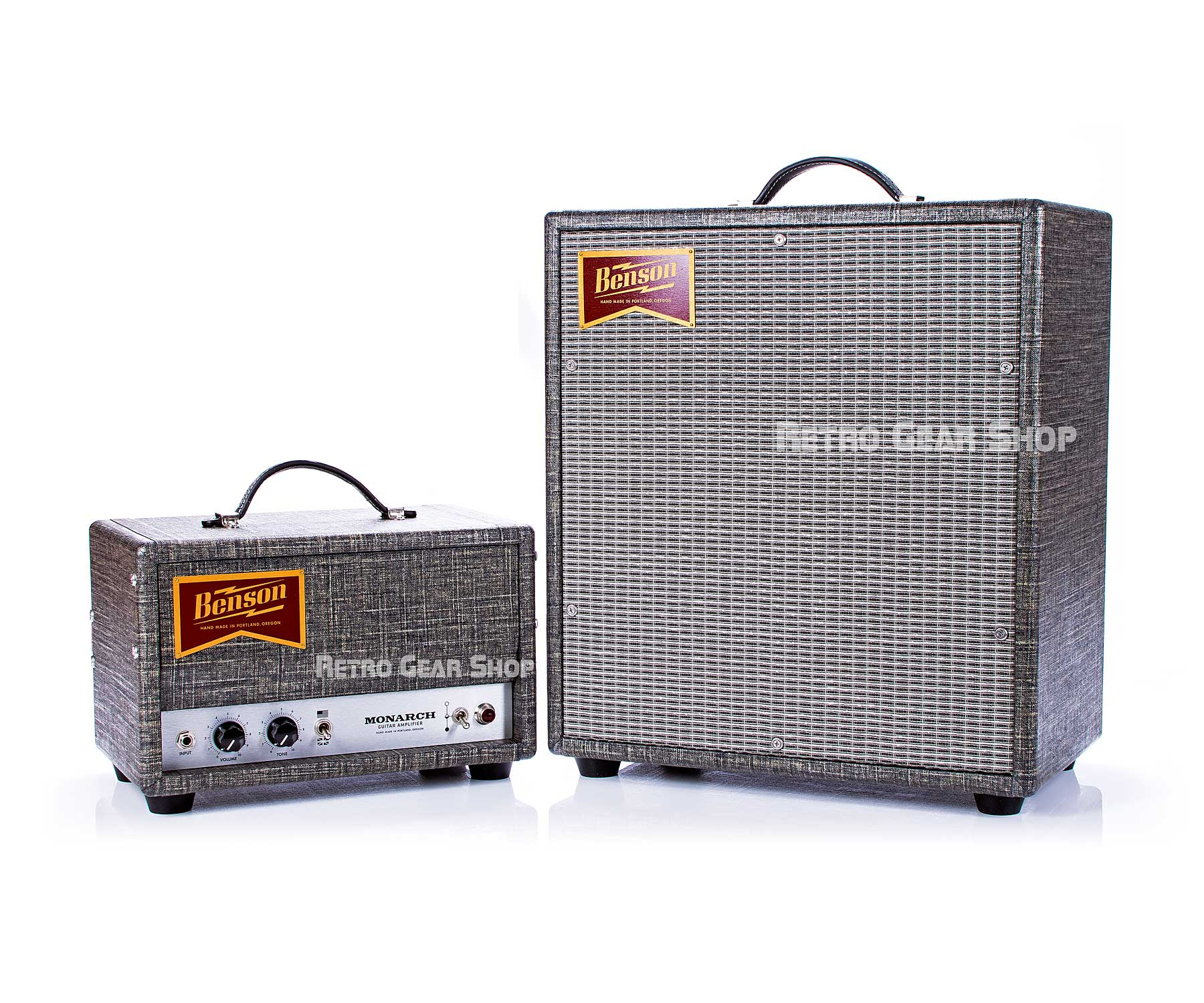 Benson Amps Monarch Head Tube Guitar Amp & 1x12 Cab Night Moves Silver Grill