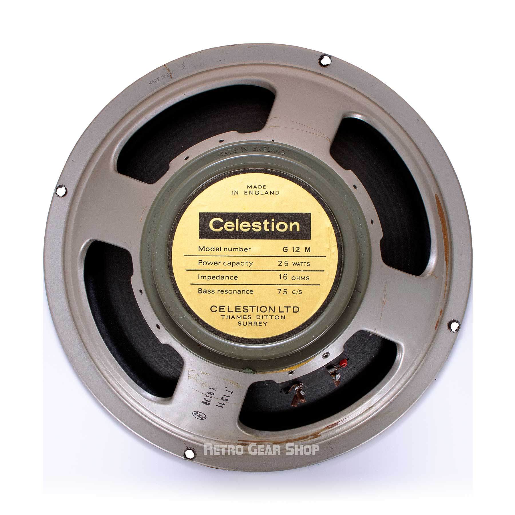 Celestion 12 Inch Speaker Rear