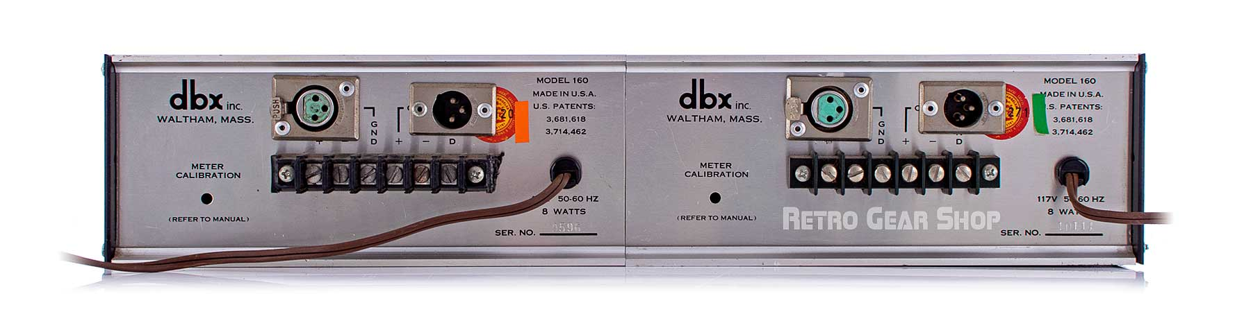 dbx 160VU Stereo Pair Rear