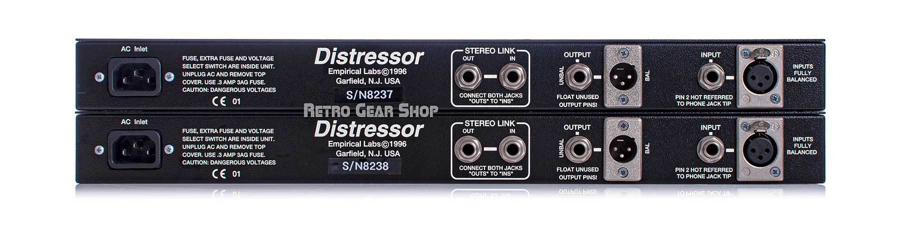 Empirical Labs Distressor EL8X-S British Mode Stereo Pair Rear