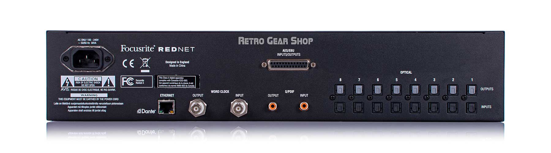 Focusrite Rednet 3 Rear
