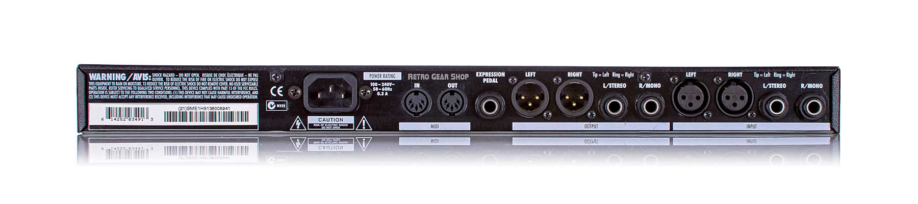 Line 6 Echo Pro Delay Rack Effect Rear