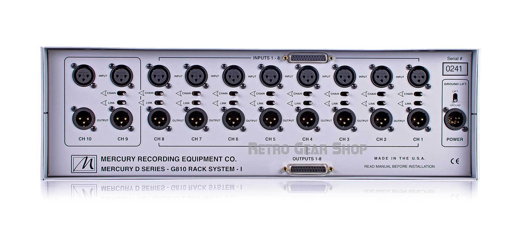 Mercury D Series G810 Rack System I Rear