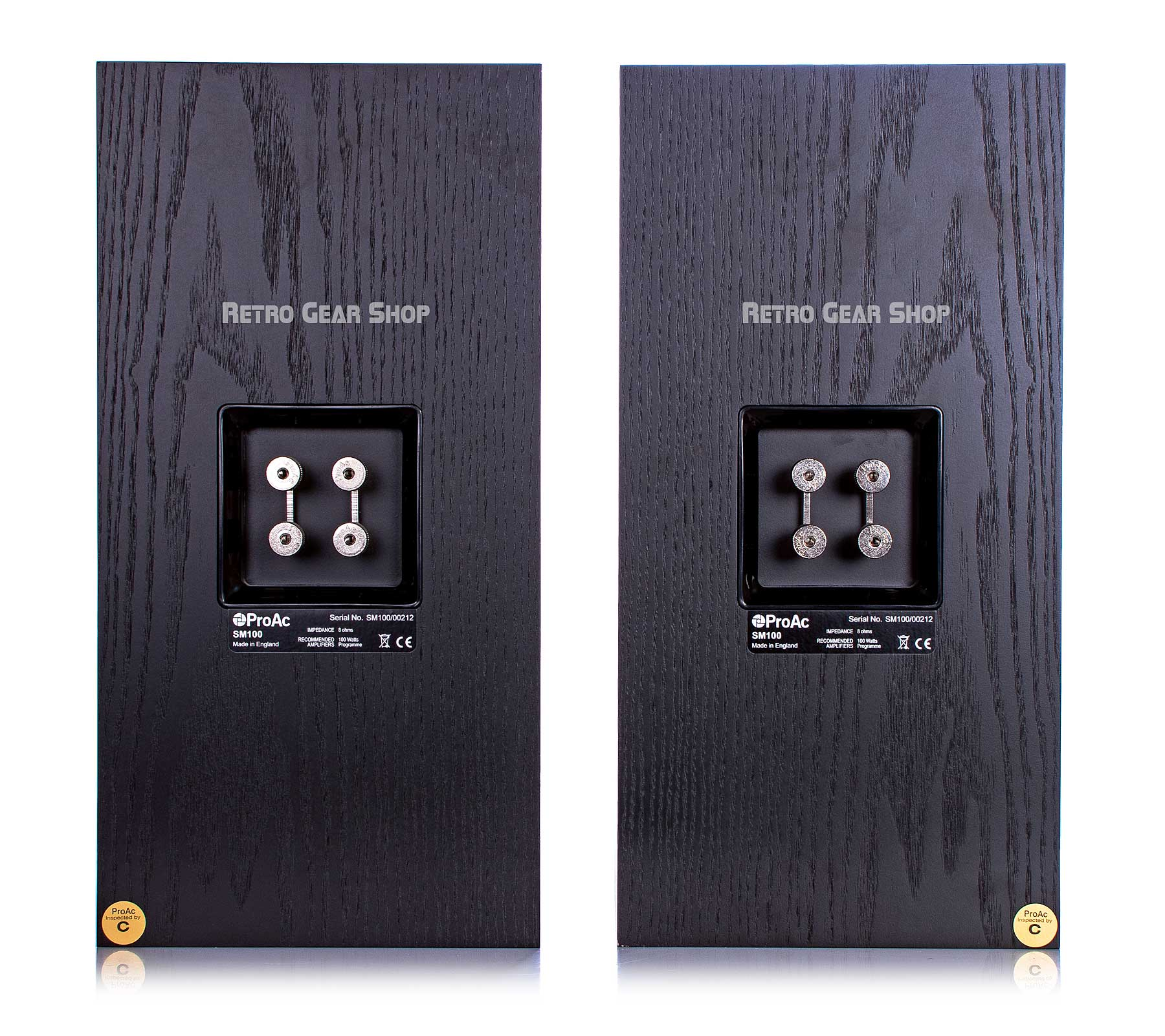ProAc Studio SM 100 Passive Studio Monitors Pair Black Rear