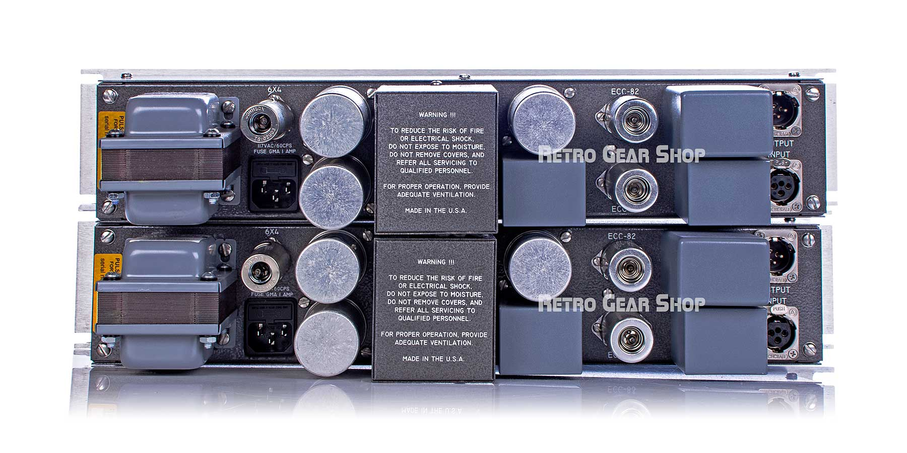 Pultec EQM-1A3 Mastering EQ Stereo Pair Rear