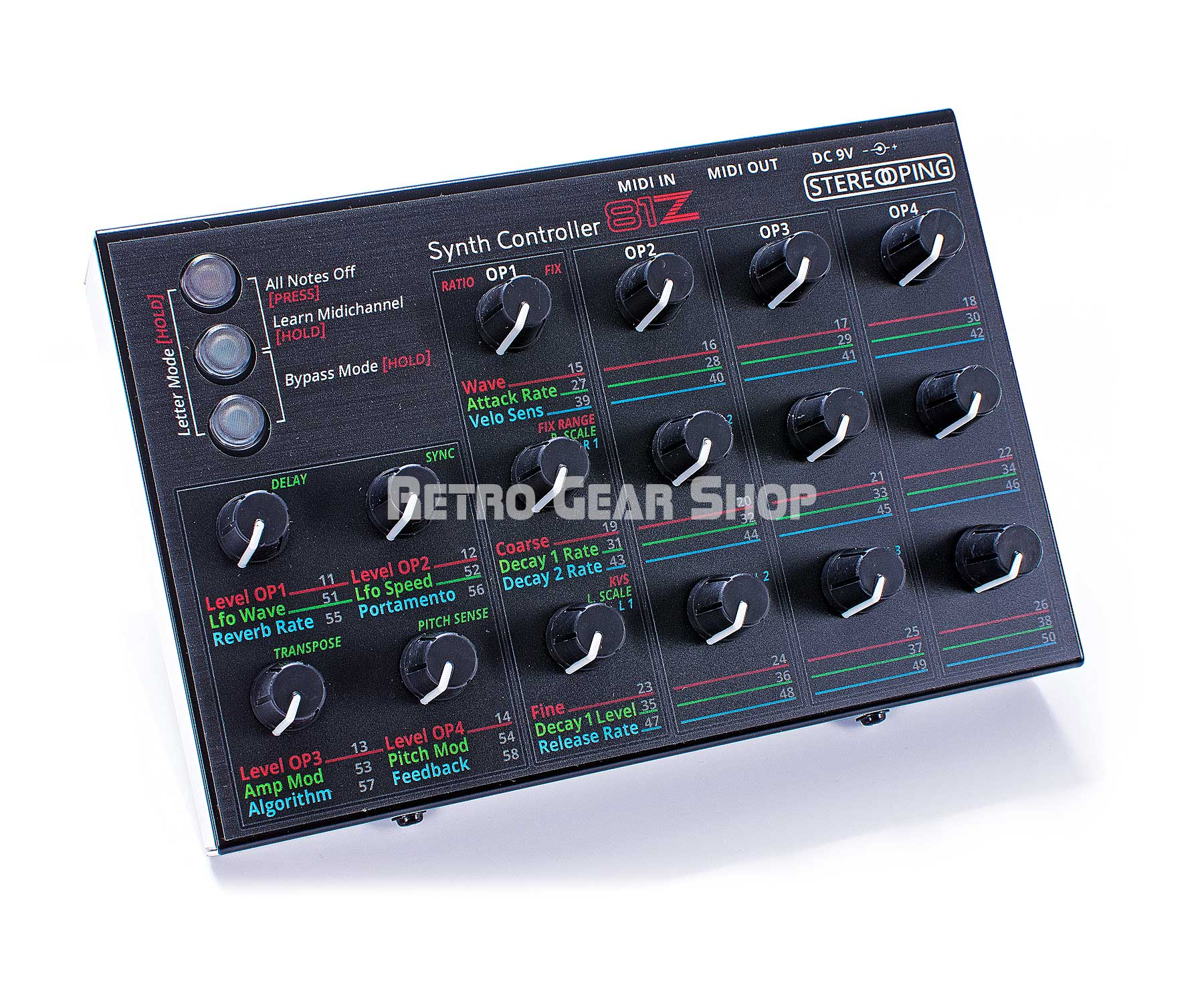 Stereoping CE-1 81Z Midi Controller for Yamaha TX81Z Top Left