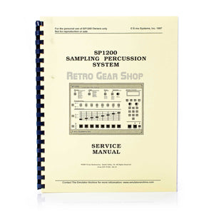 E-Mu SP-1200 Final Edition #112 Service Manual