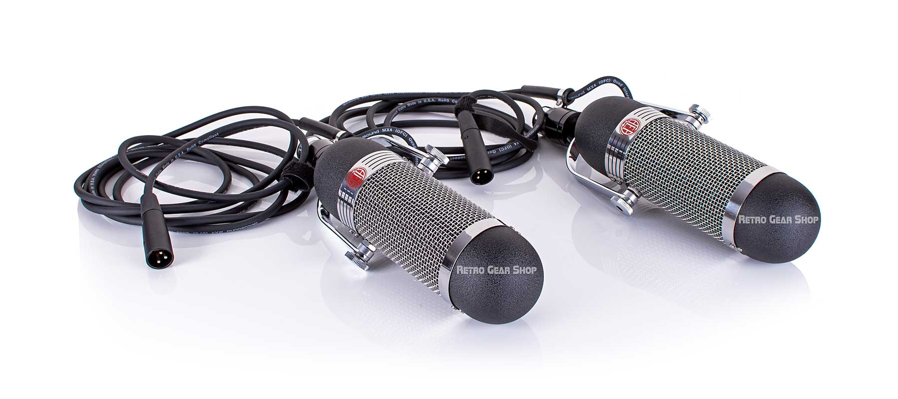 AEA R84 Ribbon Microphone Stereo Matched Pair Top Left