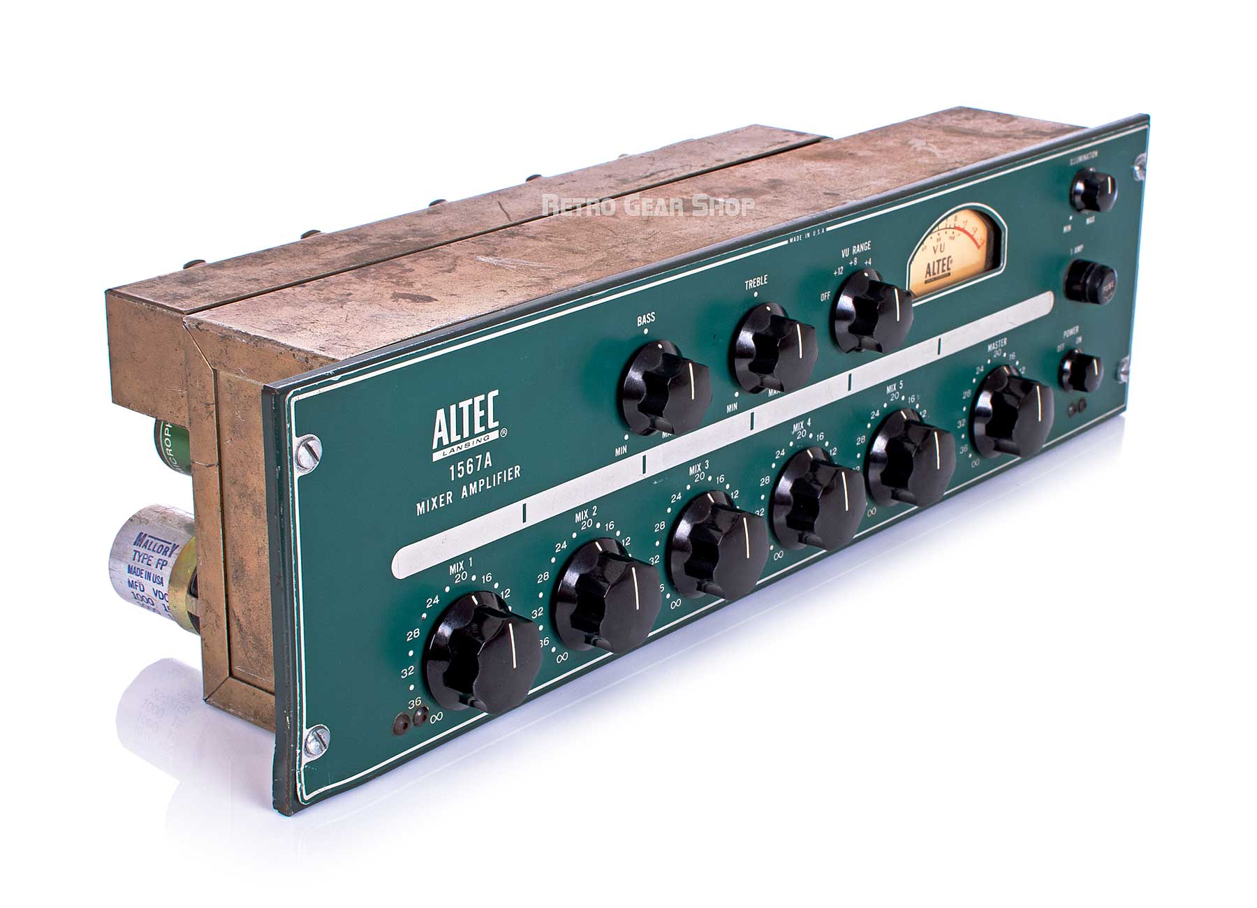 Altec 1567A Mixer Amplifier Top Left