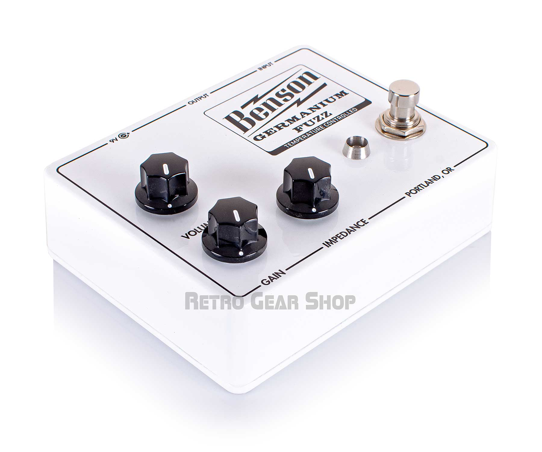 Benson Amps Germanium Solar White Fuzz Top Left