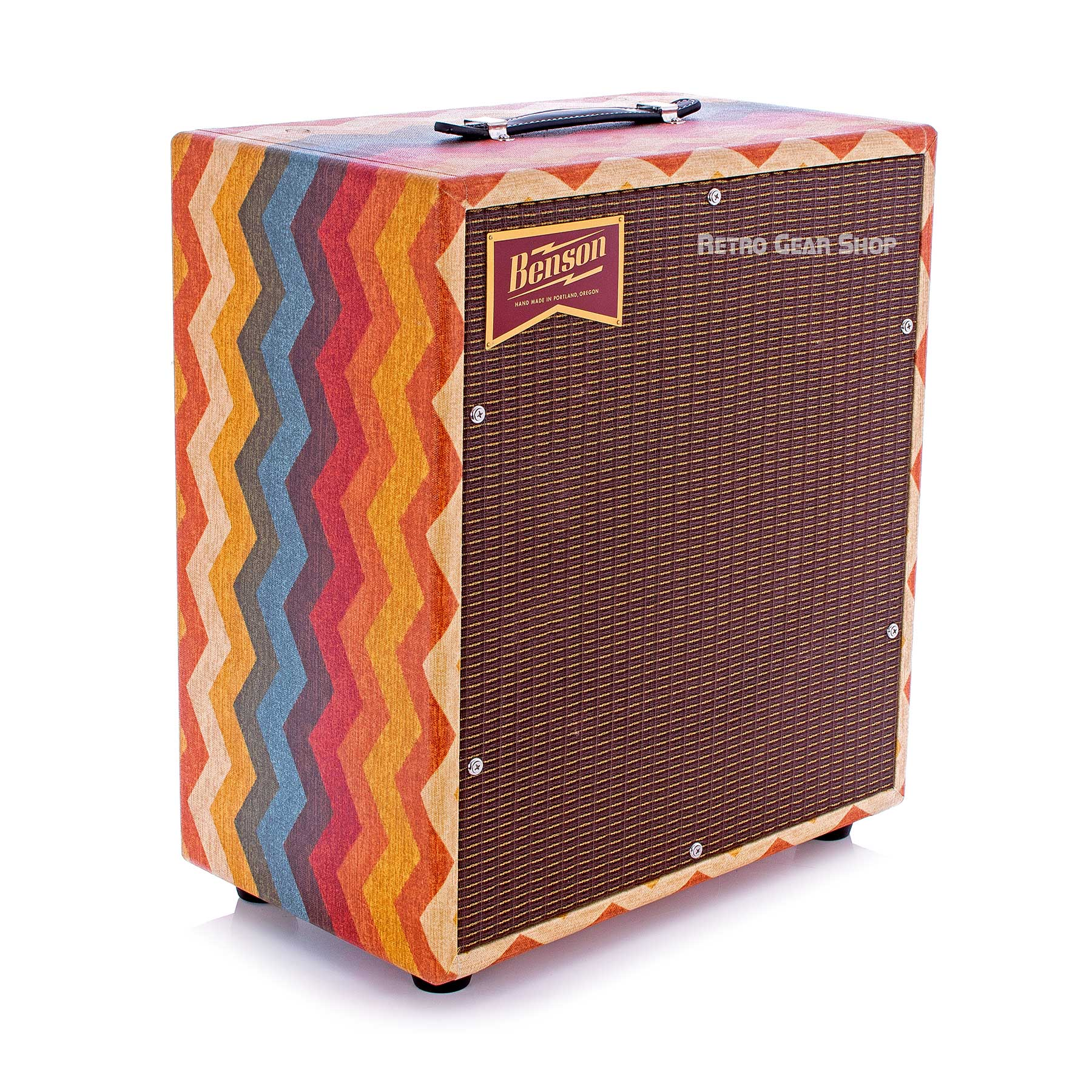 Benson Amps Monarch 1x12 Cab Old Mexico Oxblood Grill Top Left