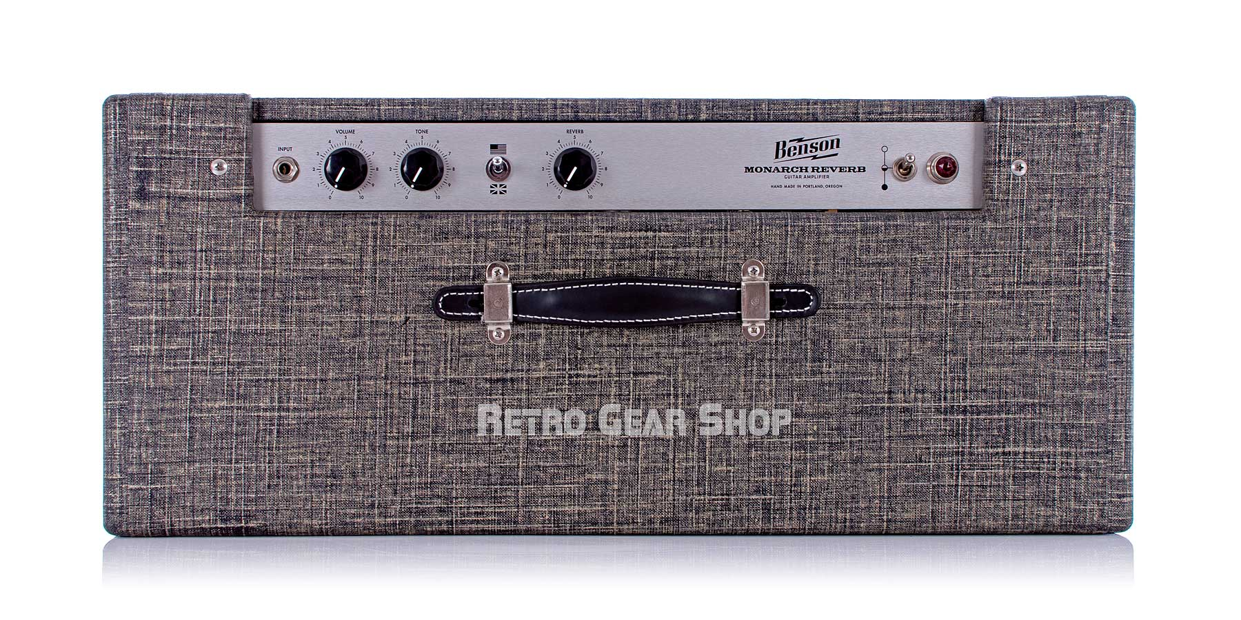 Benson Amps Monarch Reverb Combo 1x12 Night Moves Finish Wheat Grill Top