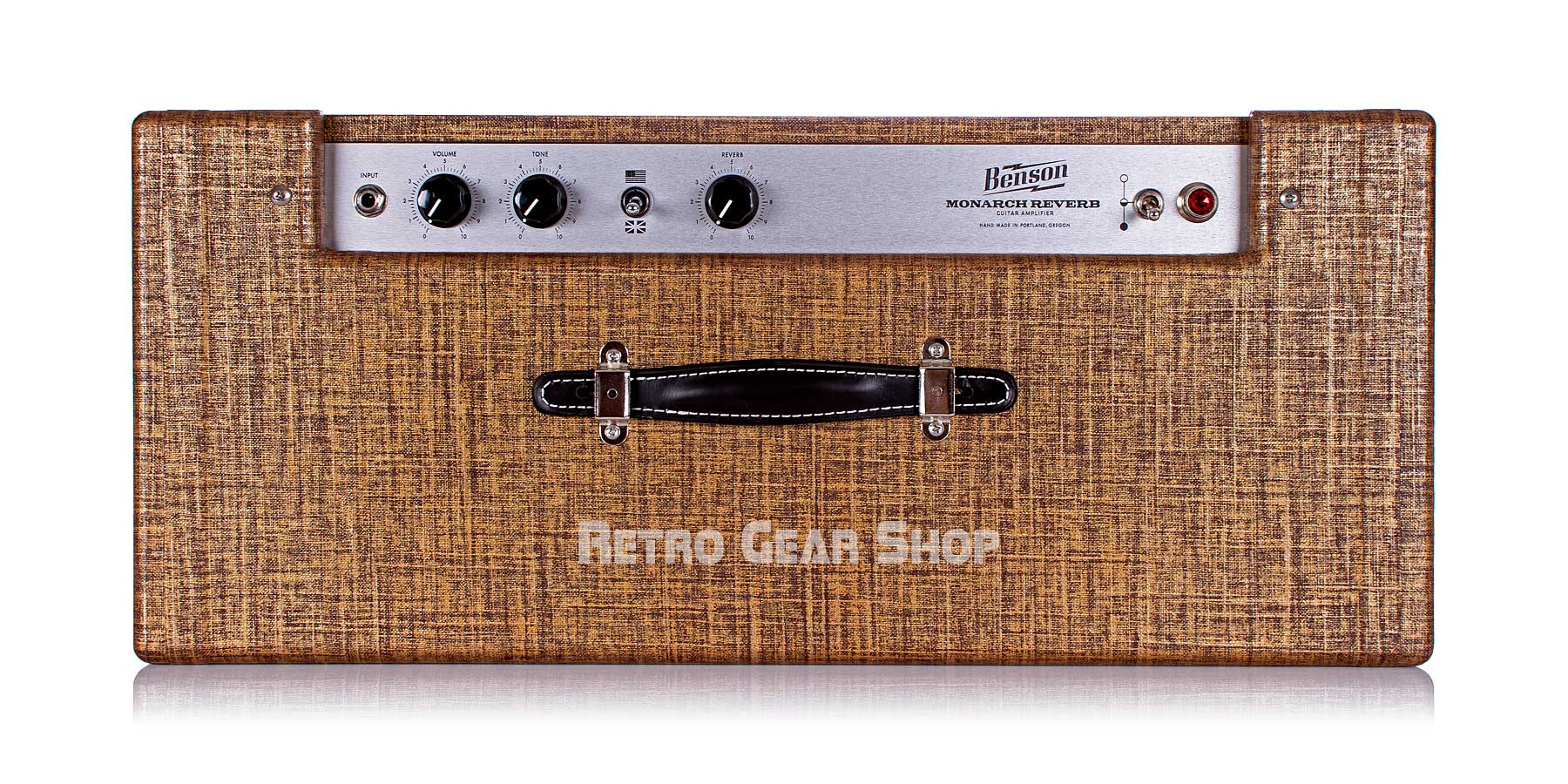 Benson Monarch Reverb Combo 1x12 Custom Rust Moves Top