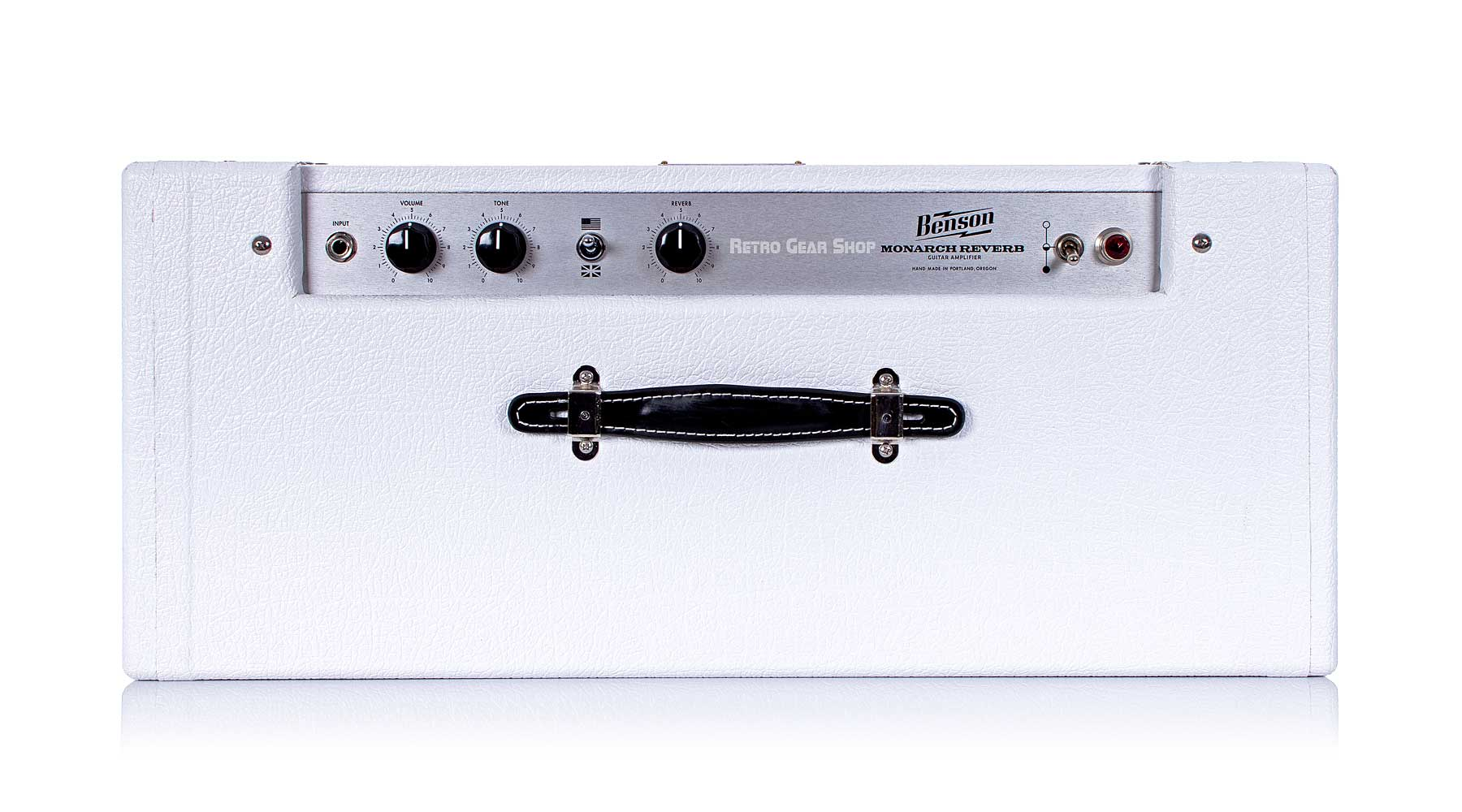 Benson Monarch Reverb Combo 1x12 Custom White Oxblood Top