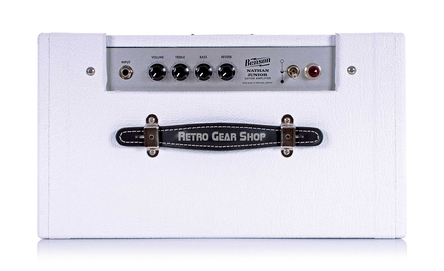 Benson Amps Nathan Junior White Oxblood Top
