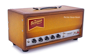 Benson Amps Vincent 30 Watt Amp Head Bourbon Burst Top Left