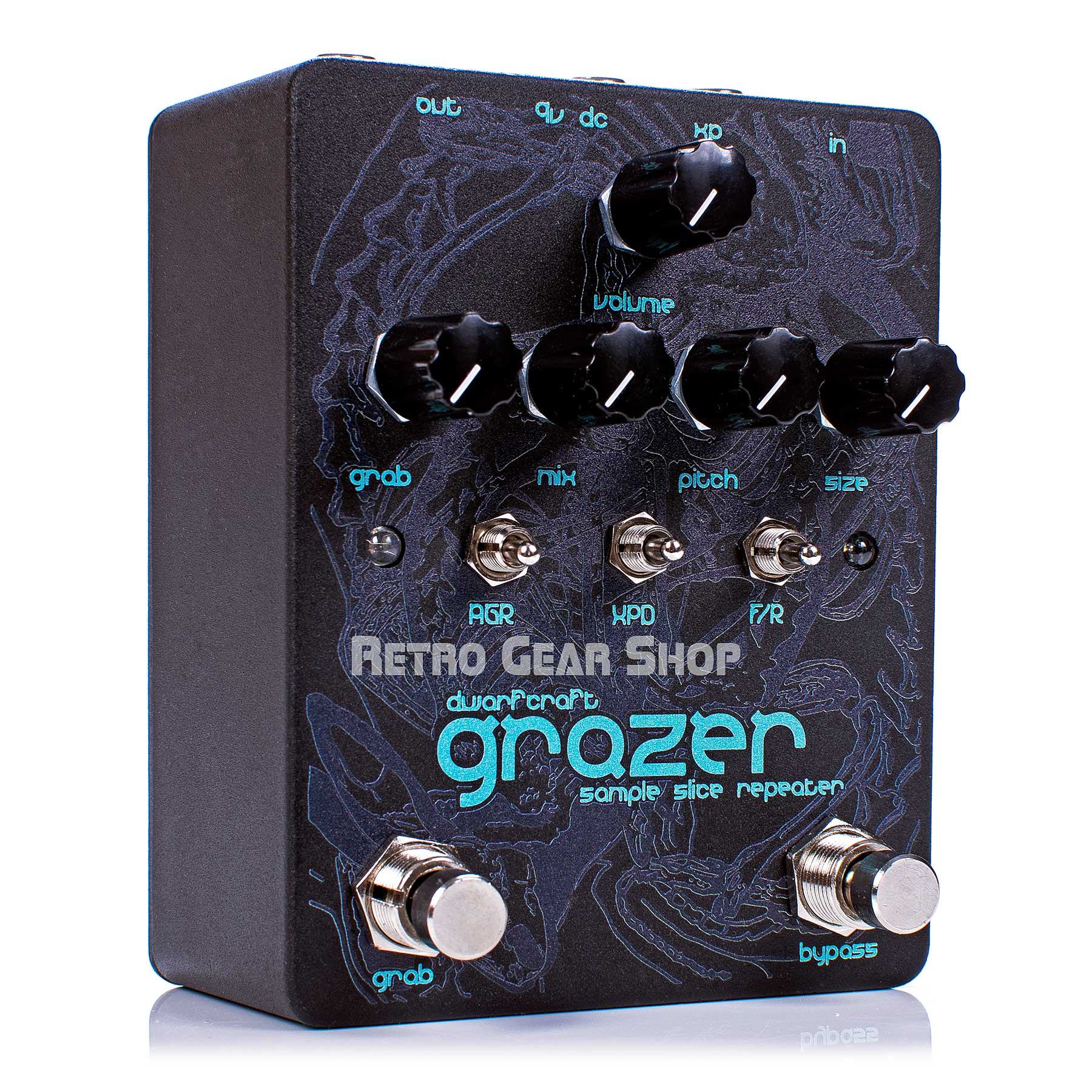 Dwarfcraft Devices Grazer Black Ice Limited Edition Granular Repeater Guitar Effect Pedal