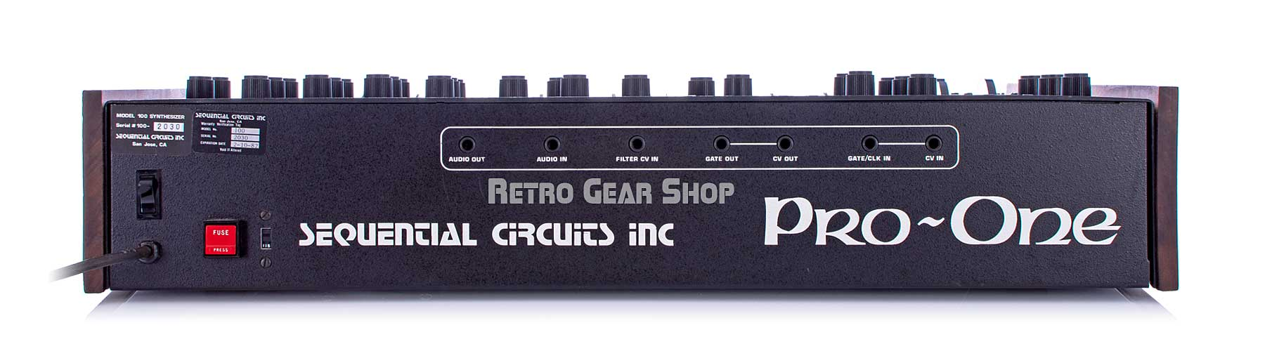 Sequential Circuits Pro One J-Wire Rear