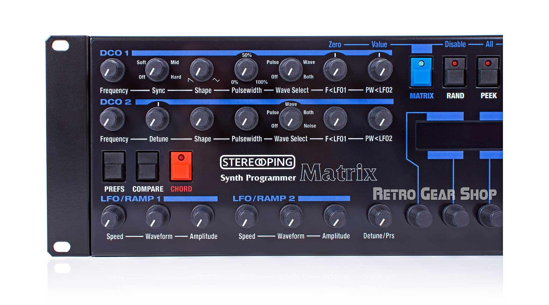Stereoping Programmer Oberheim Matrix Top Left