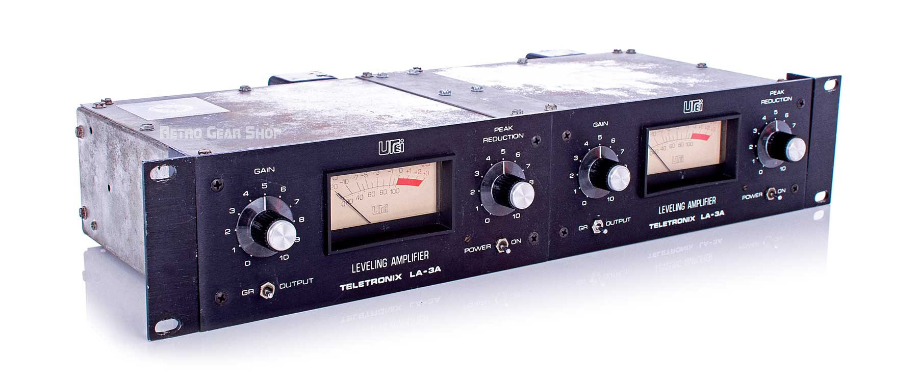 Urei LA-3A Leveling Amplifier Stereo Pair Top Left
