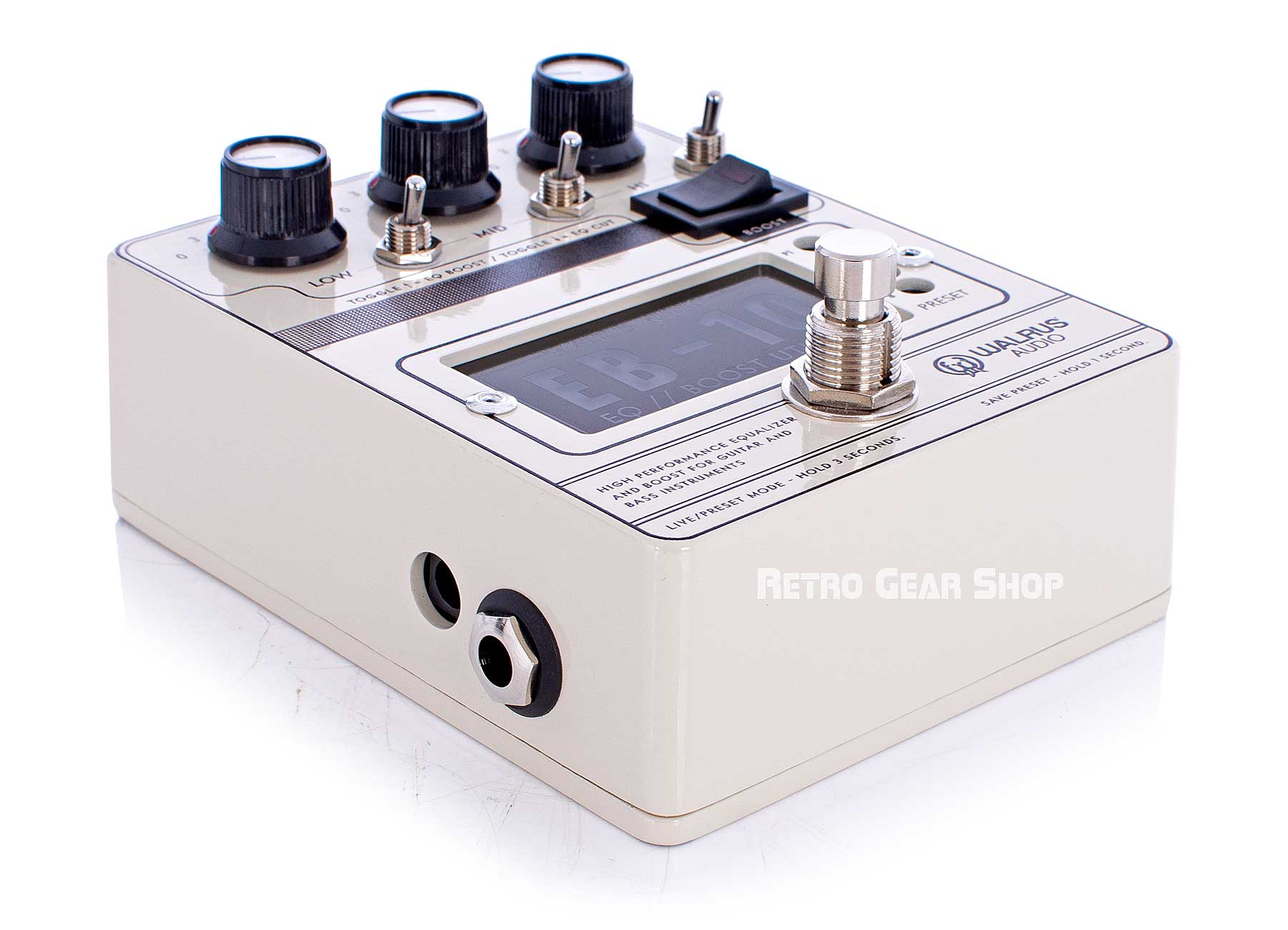 Walrus Audio EB-10 Cream Top Left