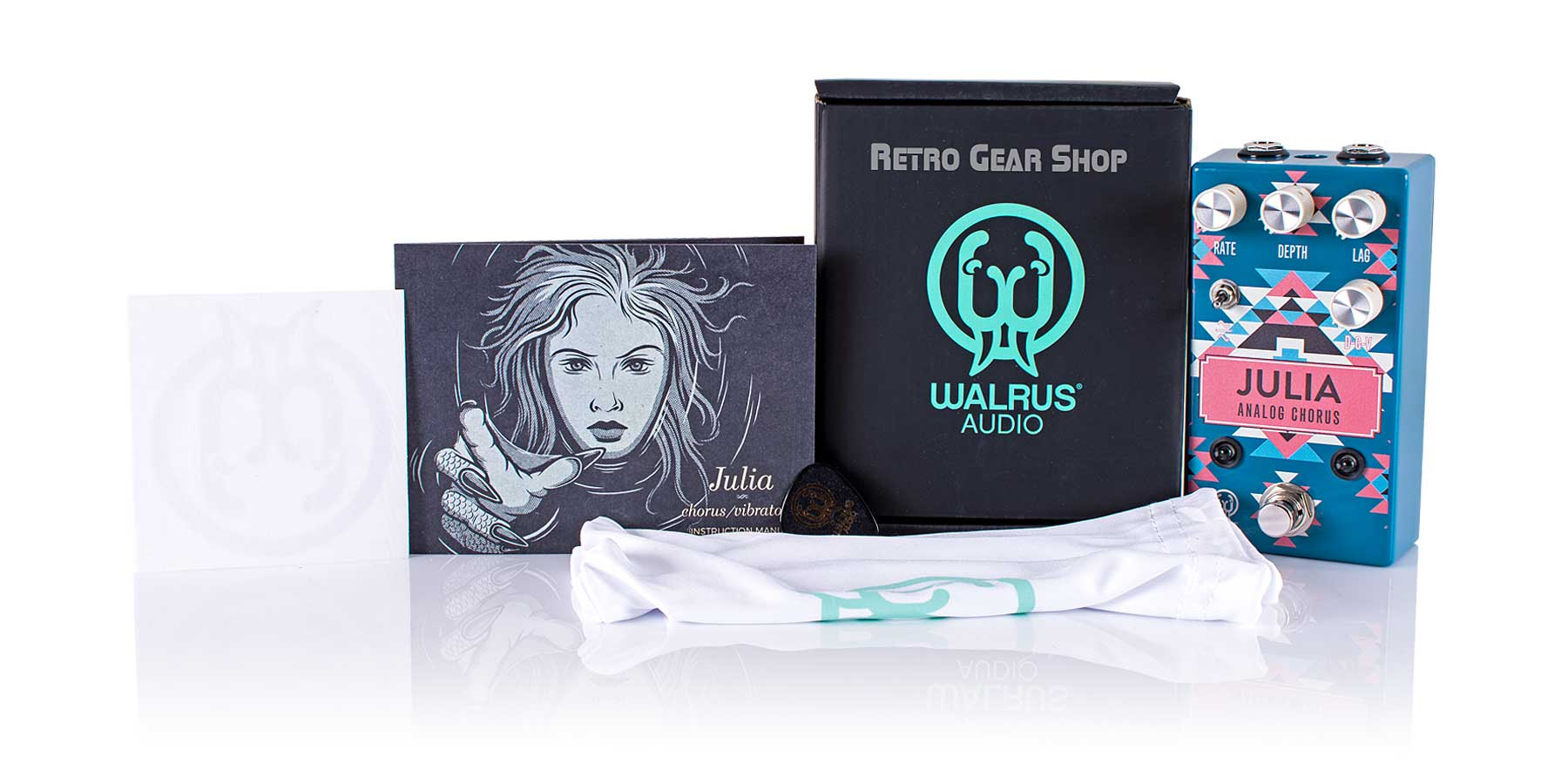Walrus Audio Julia Black Friday Santa Fe Limited Edition Box Manual Extras