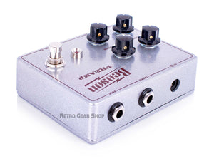 Benson Amps Preamp Silver Sparkle Oxblood Limited Edition Custom Retro Gear Shop Right Rear