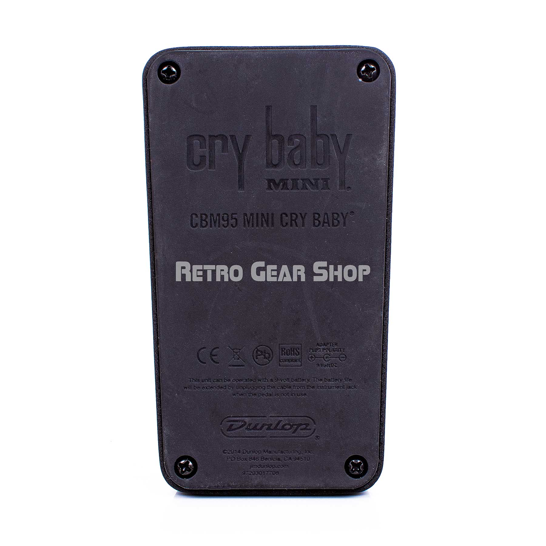 Dunlop CBM95 Mini Cry Baby Wah Bottom