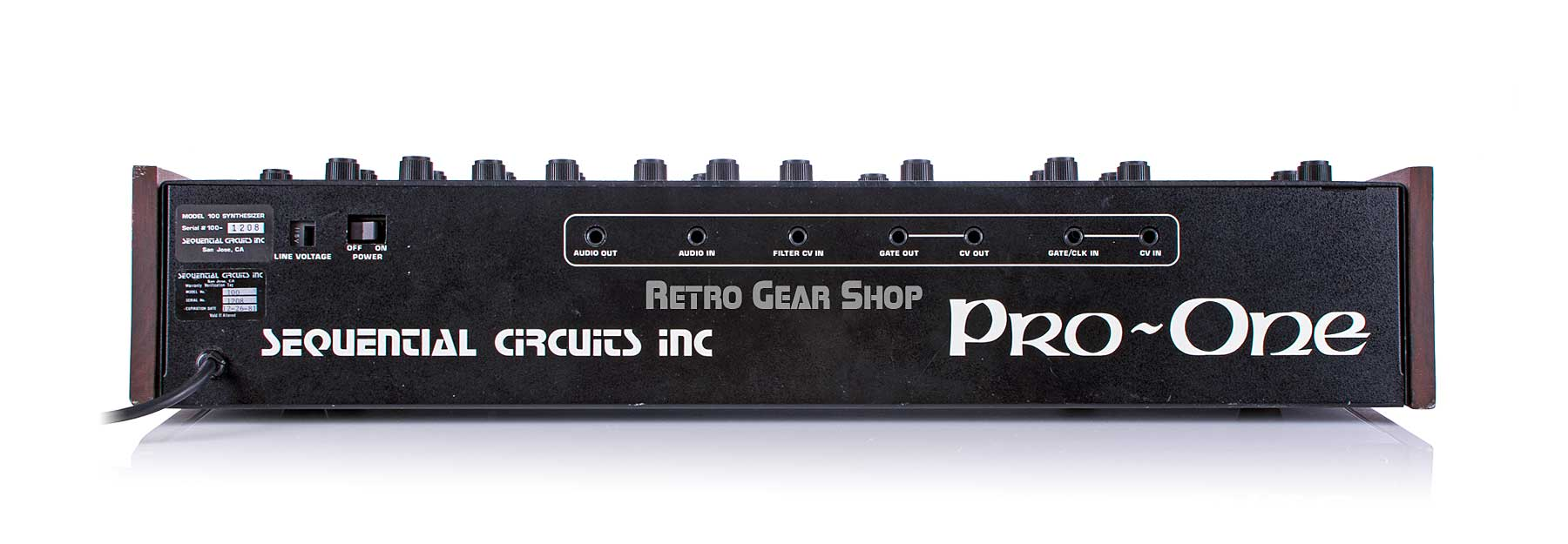 Sequential Circuits Pro One Rear