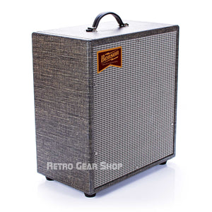 Benson Amps Monarch 1x12 Cabinet Night Moves Silver Grill Top Left