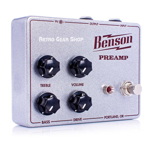 Benson Amps Preamp Guitar Effect Pedal Silver Sparkle Oxblood Limited Edition Custom Retro Gear Shop