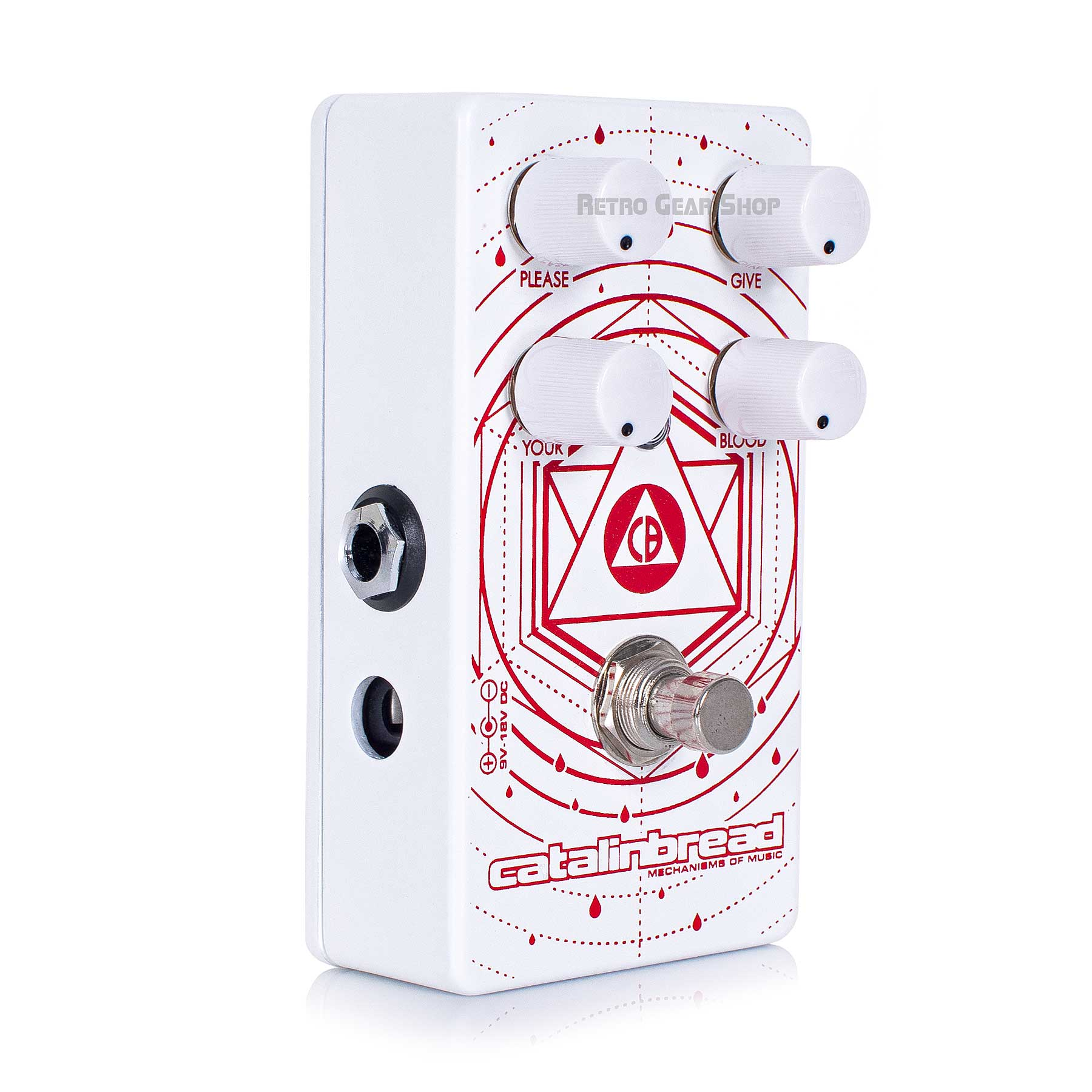 Catalinbread Blood Donor Fuzz Eq Limited Edition White Guitar Effect Pedal