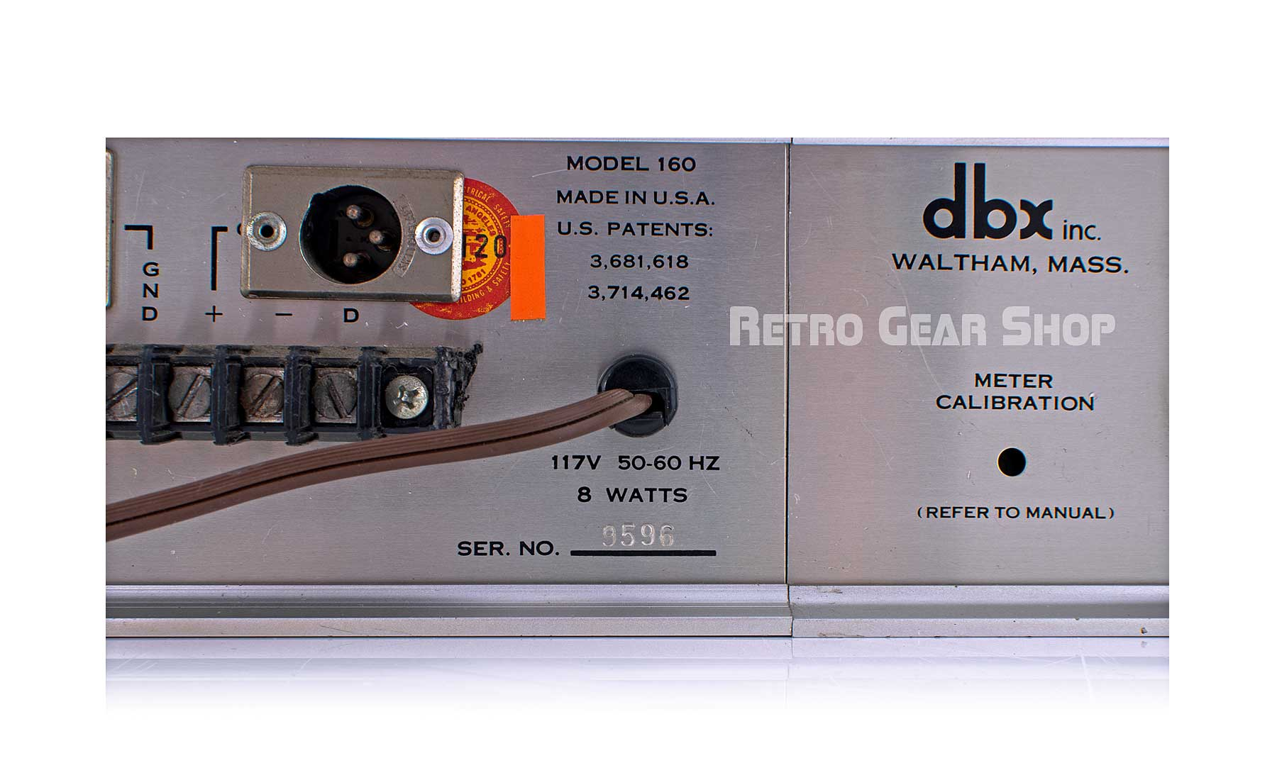 dbx 160VU Stereo Pair Serial Number