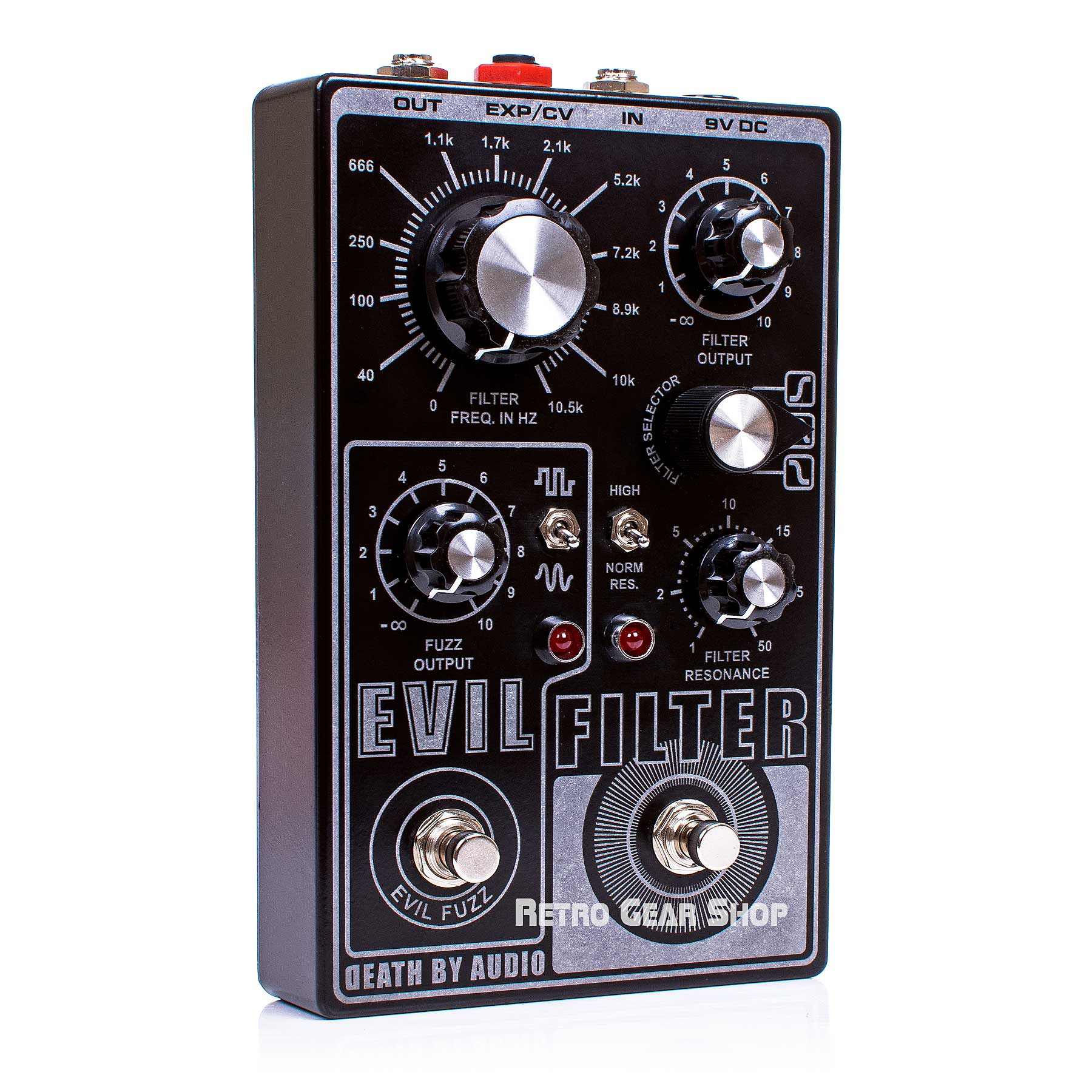 Death By Audio Evil Filter Fuzz BP/HP/LP Guitar Effect Pedal