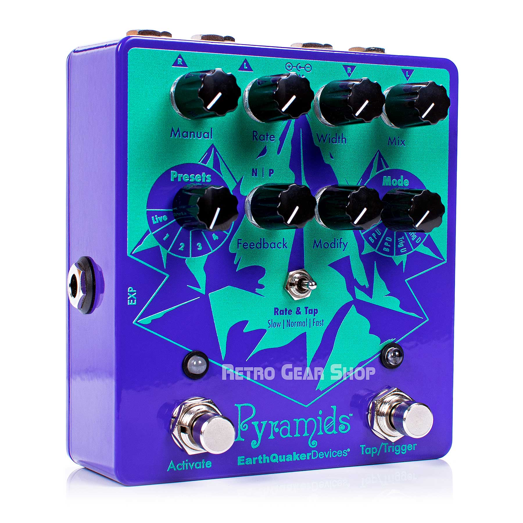 EarthQuaker Devices Pyramids Stereo Flanging Guitar Effect Pedal