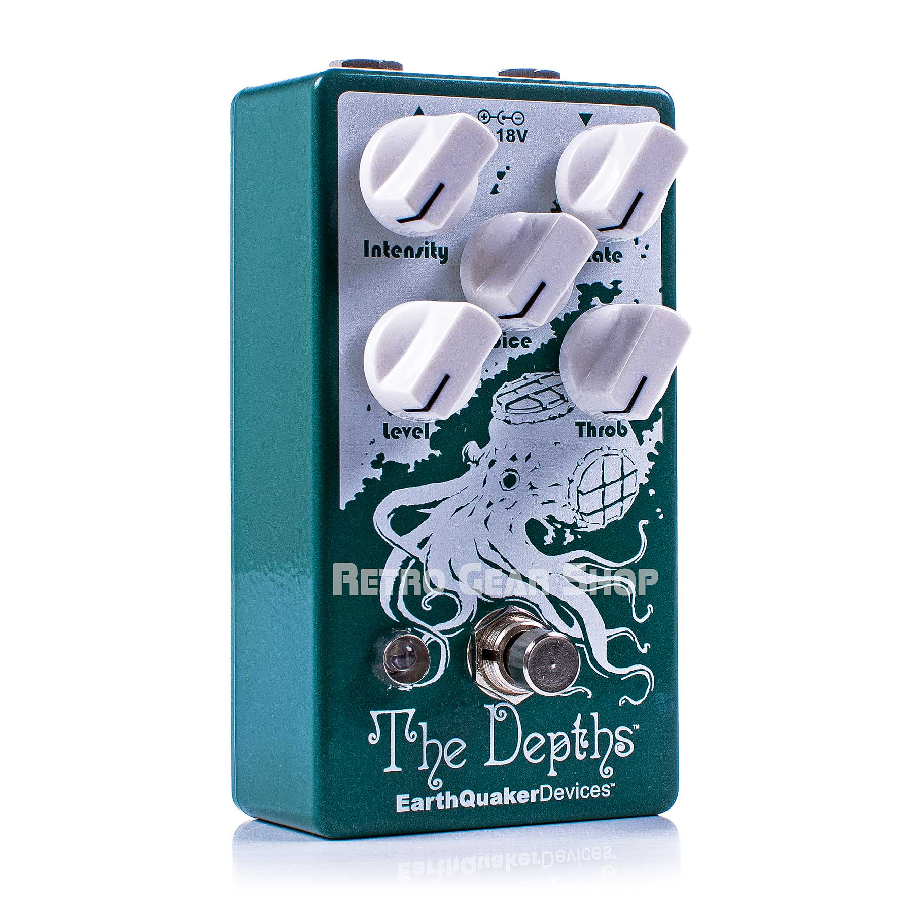 EarthQuaker Devices The Depths V2 Analog Optical Vibe Machine Guitar Effect Pedal