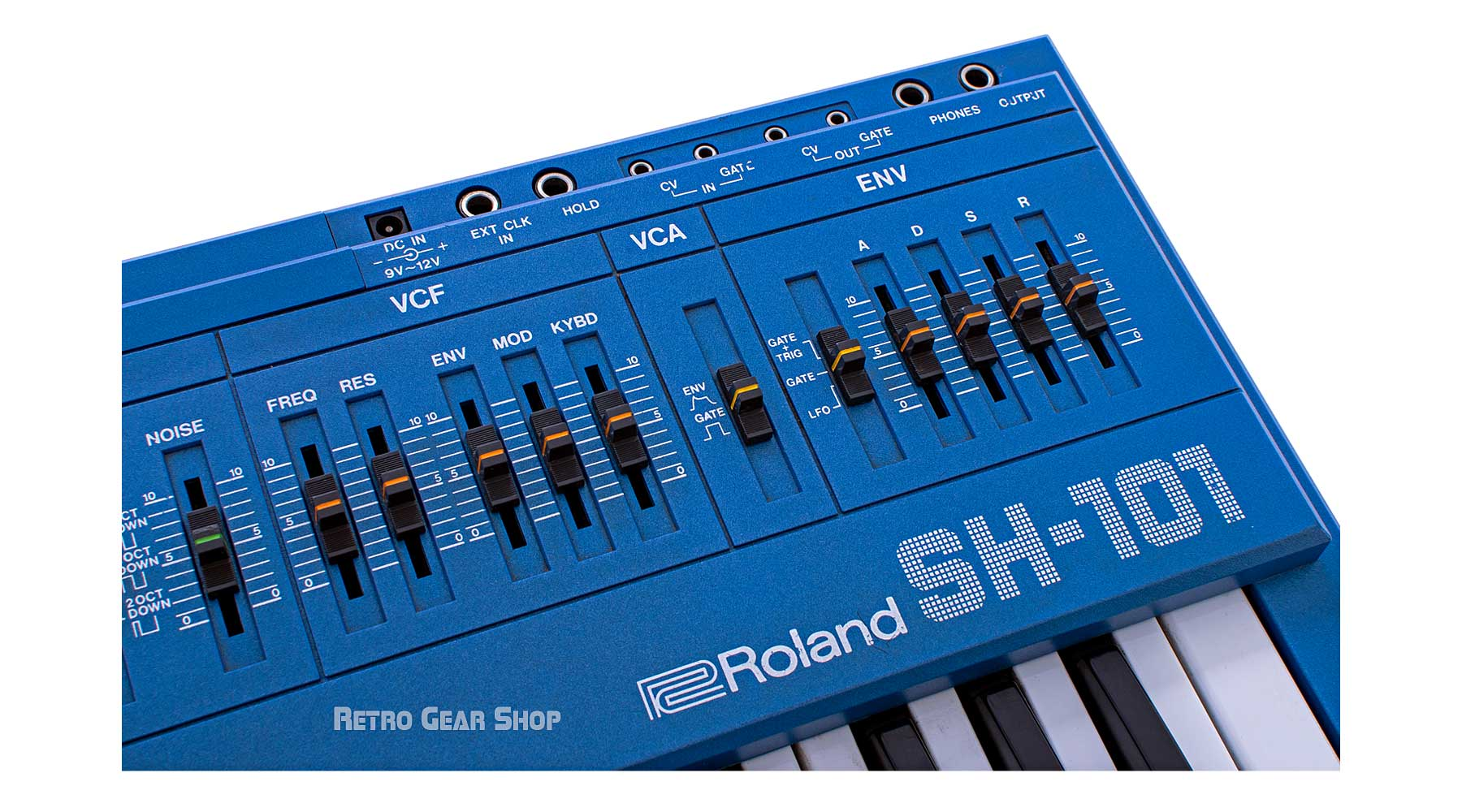 Roland SH-101 Blue Analog Vintage Rare Mono Synth #372513