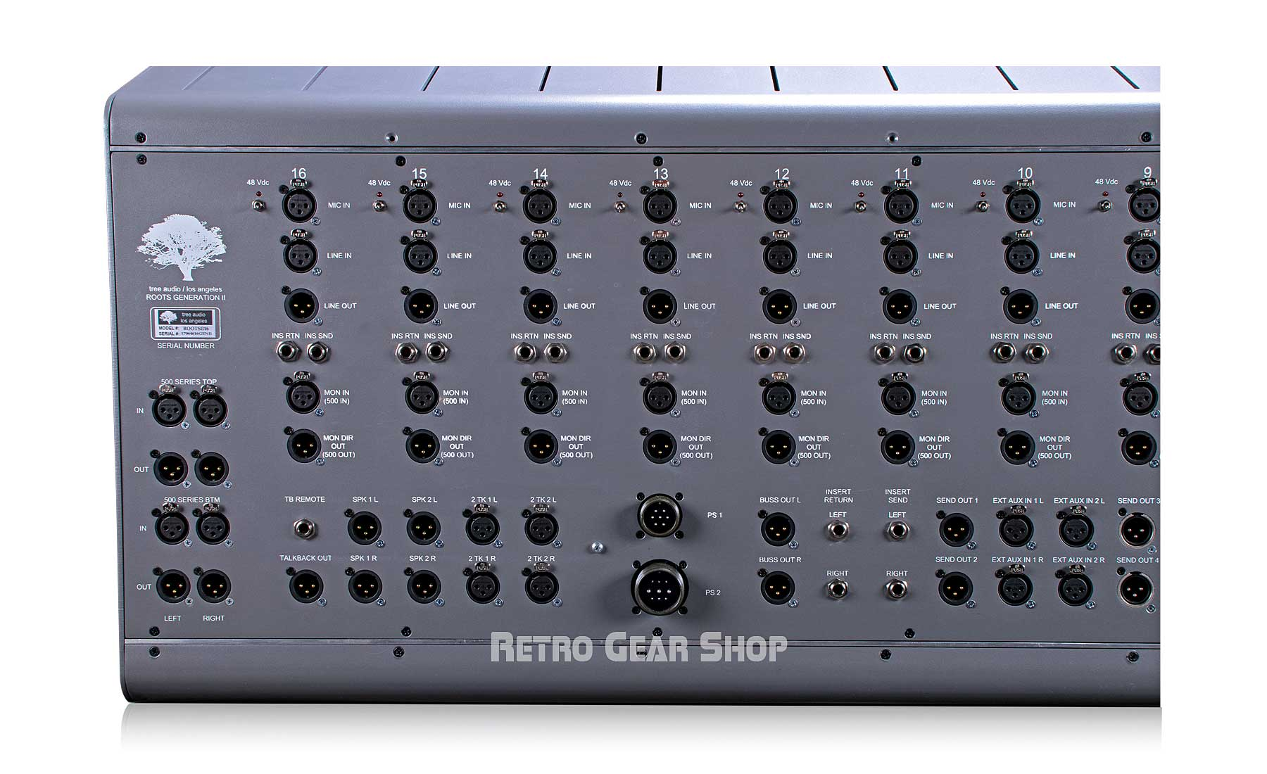 Tree Audio Roots Console 16 Channel Tube Console Rear Left