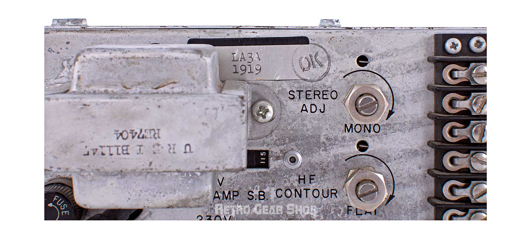 Urei LA-3A Stereo Pair Serial Number 1919