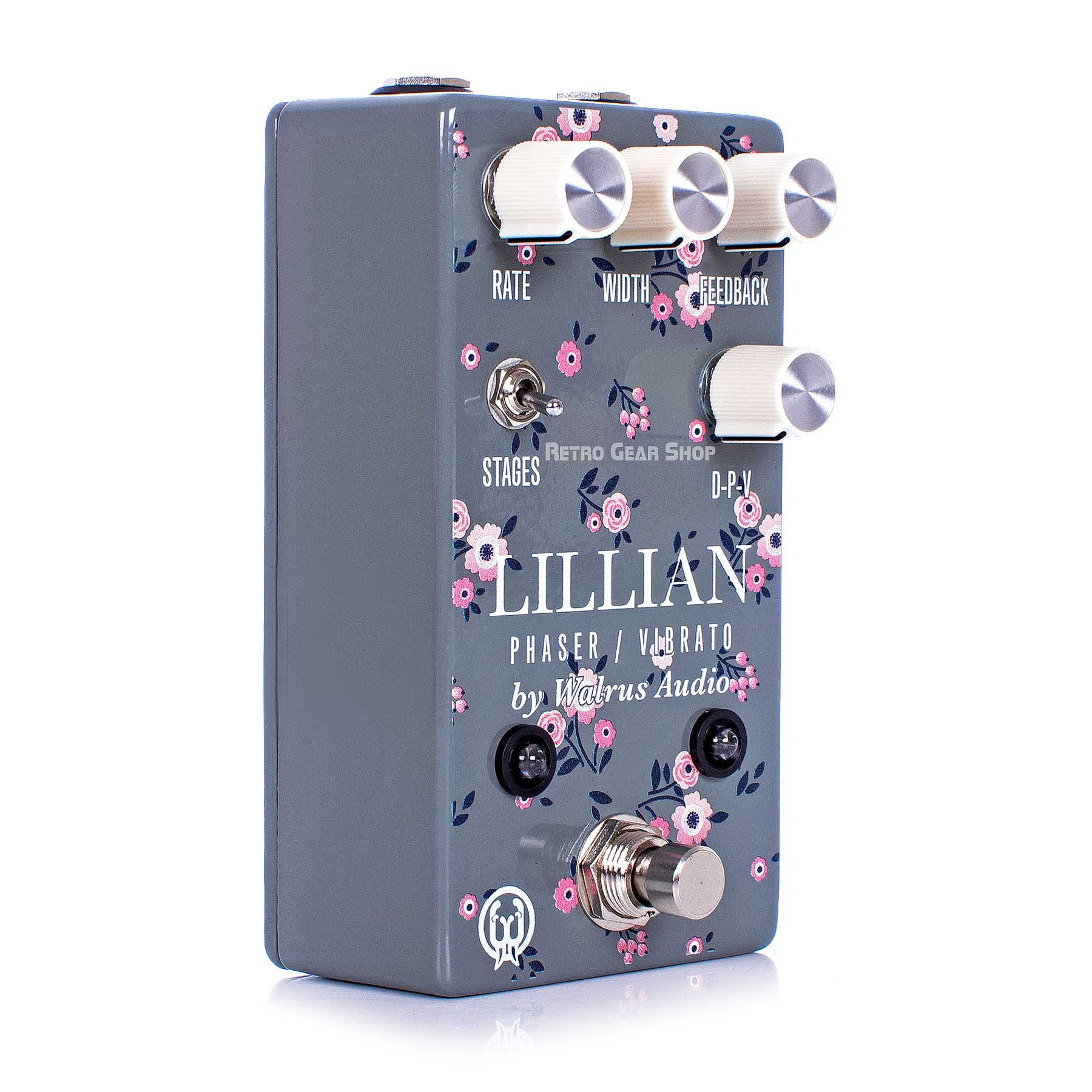 Walrus Audio Lillian Limited Edition Floral Series Multi-Stage Analog Phaser Guitar Effect Pedal