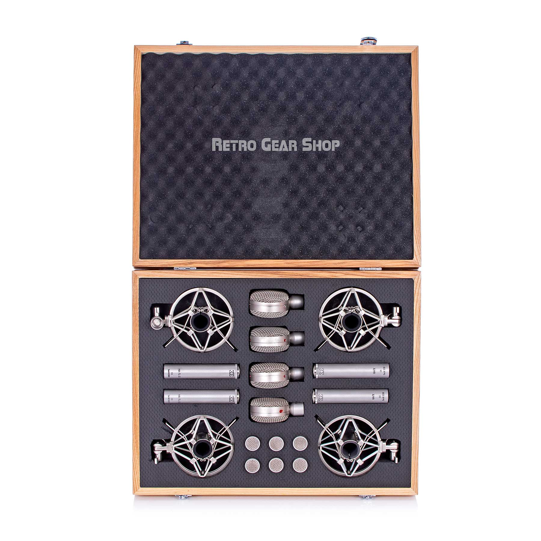 3 Zigma Master Tool Kit 4X10 Microphone Set Box Case Shockmounts