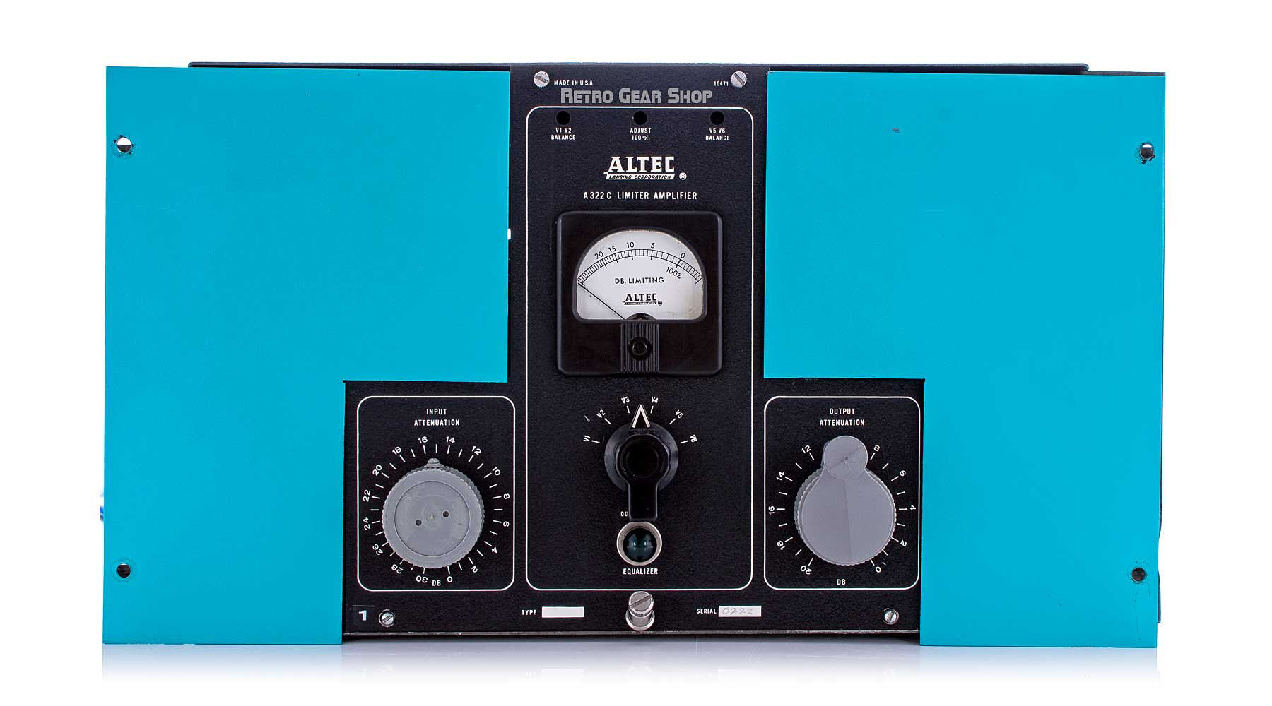 Altec 322C Vintage Limiter Amplifier Tube Compressor Blue Front