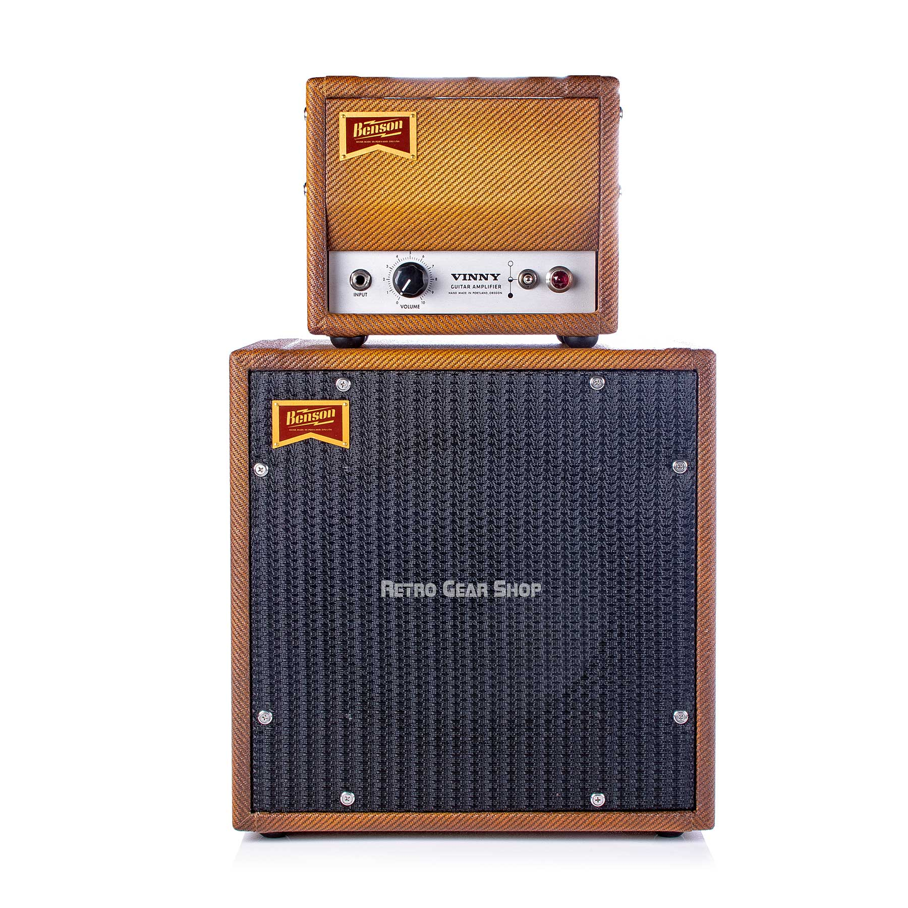 Benson Amps Vinny 1 Watt Head Bourbon Burst Finish Cab