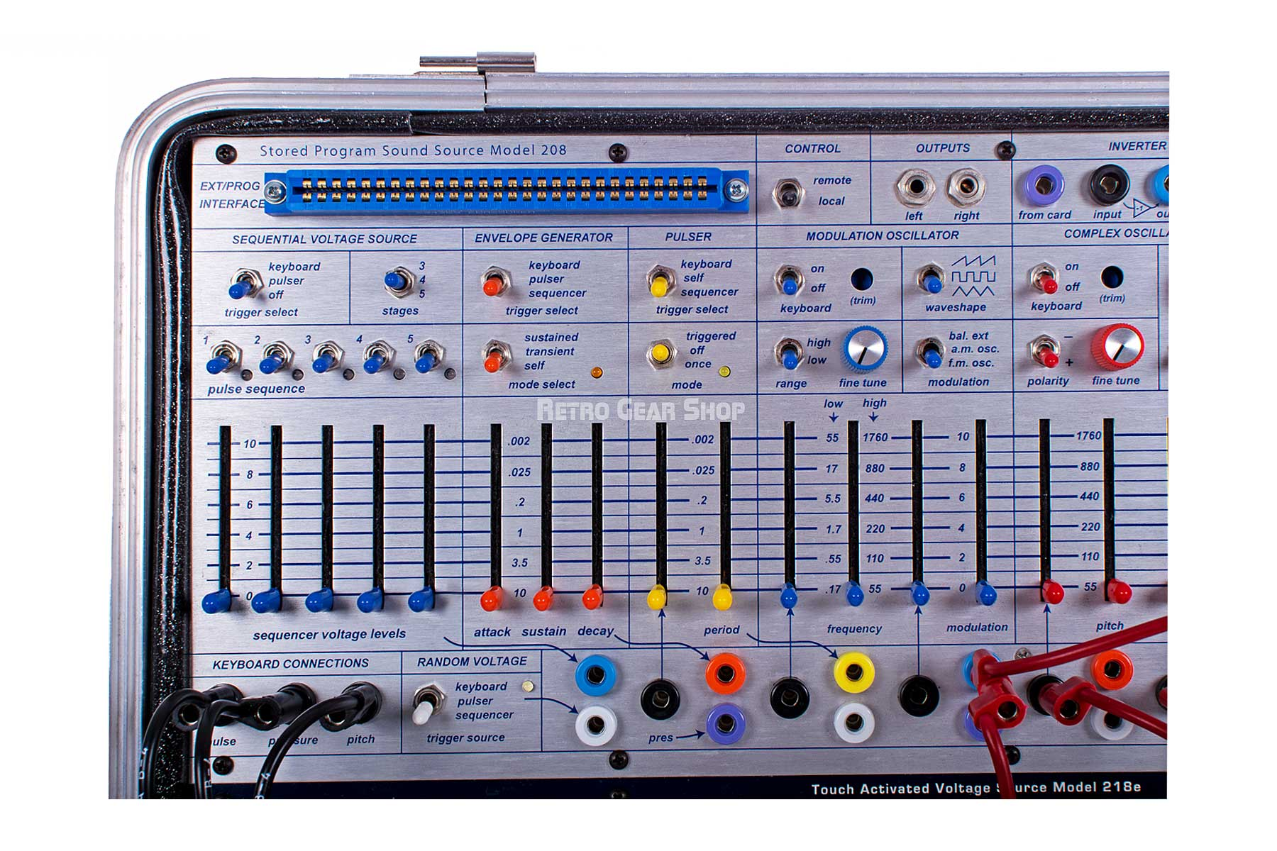 Buchla Music Easel Front Left Detail